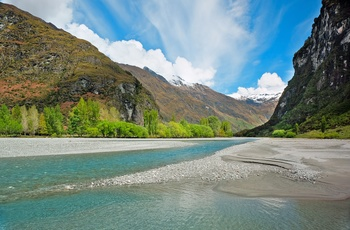 New Zealand Mount Aspiring National Park The Matukituki River