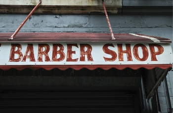 barber shop i Harlem, New York