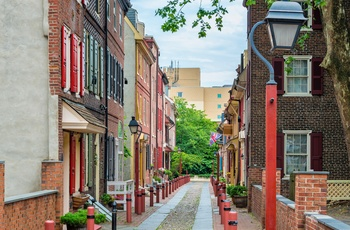 Elfreths Alley i Philadelphia, Pennsylvania i USA