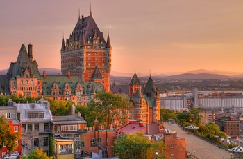 Chateau Frontenac hotellet i centrum af Quebec City, Canada