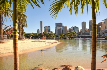 Kunstig strand, South Bank i Brisbane, Queensland