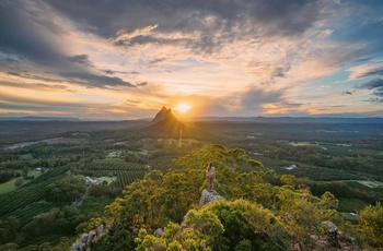 Glass House Mountains nær Sunshine Coast i Queensland, Australien