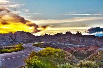 Badlands National Park Loop Road, South Dakota i USA