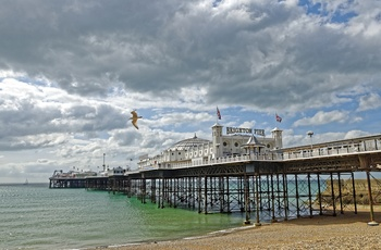 Brighton Pier, Sussex i England