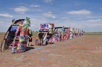 Cadillac Ranch i Amarillo, Texas i USA