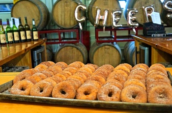 Lækre donuts i the Berkshire på Furnace Brook Winery, Massachusetts New England