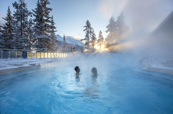Rocky Mountaineer, hot springs i Banff, Canada