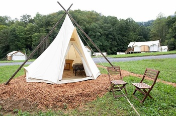 Glamping i Great Smoky Mountains, Tepee