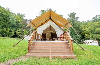 Glamping i Great Smoky Mountains, Deluxe telt