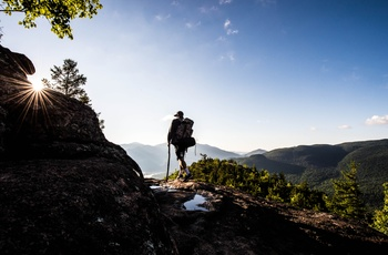 Hiker ved Adirondack Mountains i New York State