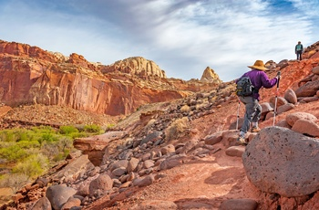 Vandretur i Capitol Reef National Park - Utah i USA