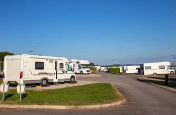 Campingplads med autocampere i Wales