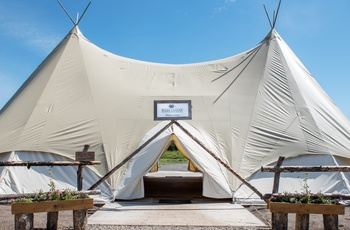 Glamping i West Yellowstone - Indgang