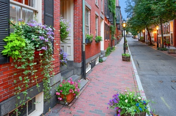 Stemning i Beacon Hill - Boston