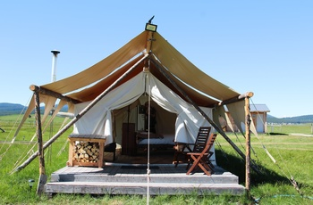 Glamping i Yellowstone