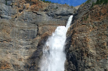 Vandfald i Yoho National Park, British Columbia i Canada