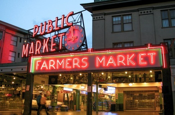 Pike Place Market i Seattle - USA