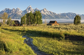 Moulton Barn i Grand Teton National Park, Wyoming i USA